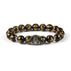 Pulsera Tibetana Amuleto Budista 100% Om Mani Padme Acero
