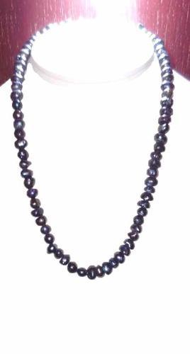 Set Collar Pulsera Aretes Con Perlas Cultivadas Negras A063