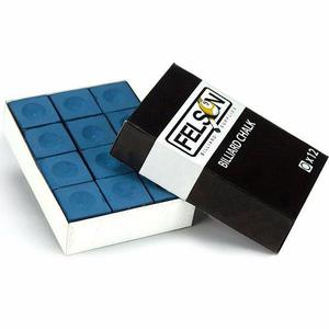 Set De 12 Tizas P/ Taco De Billar Felson - Azules