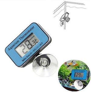 Termómetro Digital Lcd Sumergible Acuario Marino Succión
