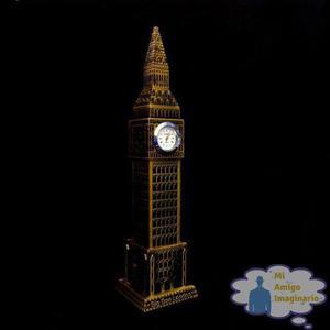 Torre Big Ben 24cm Reloj Real Metal Londres Inglaterra C Luz
