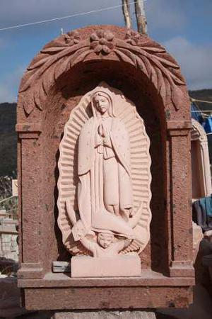 Virgen De Guadalupe De Cantera Natural