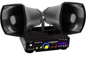 Amplificador Profesional De Perifoneo 2 Trompetas De Meta