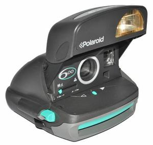 Camara Polaroid 600 Verde Aqua-gris. Funcionando Ok.
