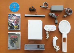Consola Nintendo Wii Blanca + 3 Videojuegos + Controles