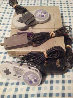 Consola Súper Nintendo Snes + Controles + Cables (pregunte)