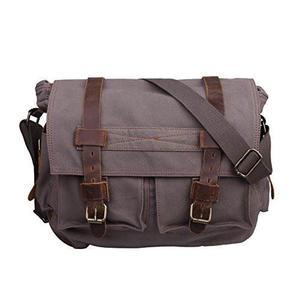 Hde Camera Messenger Bag Leather Canvas Dslr Slr Travel Bag