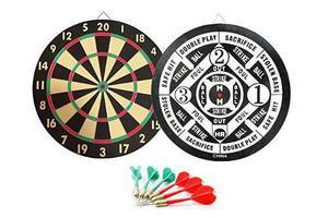 Junta Gameroomgo Dart, 2 En 1 Juego De Dardos, Tradicional J