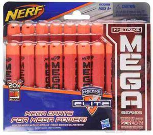 Kit De 20 Dardos Nerf N-strike Elite Mega Licencia Oficial