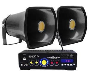 Kit Perifoneo Voceo Amplificador Publidifusion 2 Trompetas