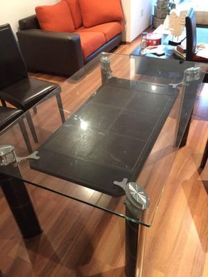 Mesa de Comedor de Vidrio