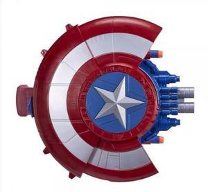 Nerf Escudo Capitan America Ataque Sorpresa Dispara Dardos