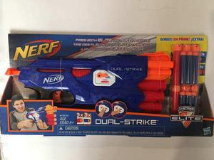 Nerf N Strike Elite Dual Strike Blaster Value Pack Mega Dart