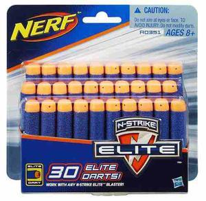 Nerf N-strike Elite Paquete Repuesto 30 Dardos Original Ofer