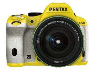 Pentax K-mp Digital Slr mm Lens Kit Yellow/ White