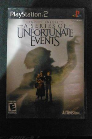 Ps2 Playstation 2 A Series Of Unfortunate Events Videojuego