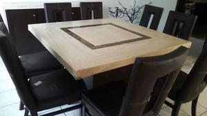 REMATO comedor de marmol 8 sillas y credenza