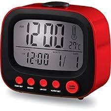 Reloj Alarma Coby Cbc-52- Retro Lcd Azul Blanco Rojo Negro