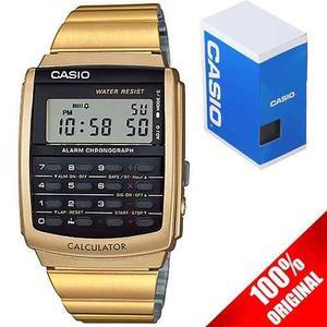 Reloj Casio Ca506 Acero Inoxidable Dorado Calculadora