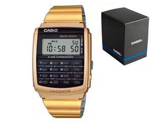 Reloj Casio Ca506 Calculadora Dorado Retro Databank Original