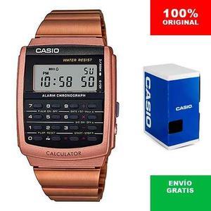 Reloj Casio Ca506 Rosa Cobre Retro Vintage - Calculadora