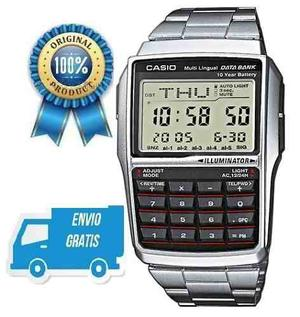 Reloj Casio Dbc32 Calculadora Extensible Acero Inoxidable