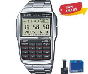 Reloj Casio Dbc32 Mtl Calculadora Vintage Retro 8 Digitos Wr