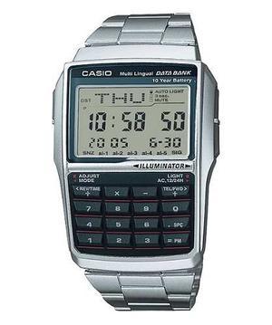 Reloj Casio Digital Acero Alarma Crono Calculadora Mo Dbc-32