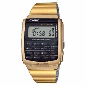Reloj Casio Nuevo Ca506 Calculadora Metal Dorado Envío