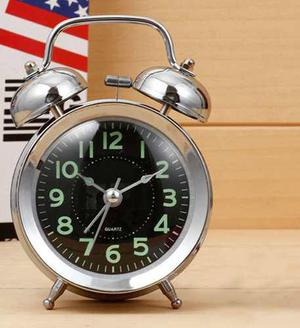 Reloj Despertador Grande Vintage Clasico Doble Campana