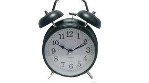 Reloj Despertador Metal Negro Estilo Retro Antiguo