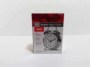 Reloj Retro Rca Plateado Despertador Campana Iluminación