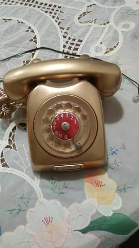Teléfono Antiguo Ericsson (pintado) Color Oro Viejo