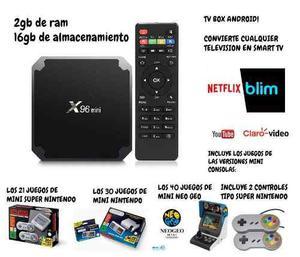 Tv Box, Mini Nes, Mini Snes Y Mini Neo Geo, Mes Gratis De Tv
