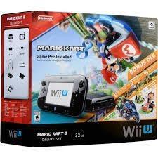Wii U Mario Kart 8 Deluxe Set 32gb + Mando Y Videojuegos