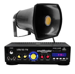 Xa031 Kit Paquete Perifoneo Voceo Amplificador Usb/sd Fm New
