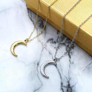 Collar De Luna Chapa De Oro De 22k + Envió Gratis