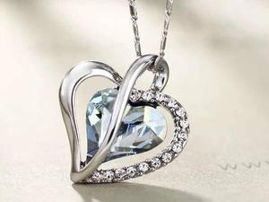 Corazón De Cristal Swarovski Collar Con Certificado Oferta.