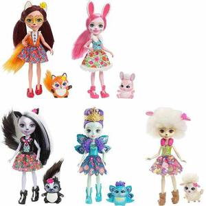 Enchantimals Serie De Muñecas Pack De 5 Pza Dvh87