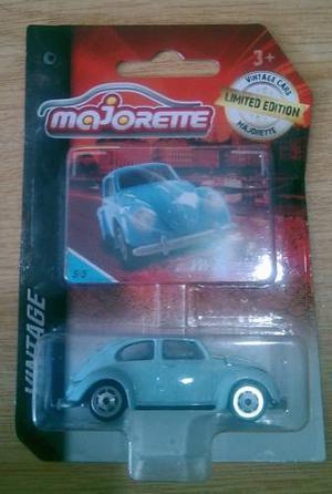 Majorette Vintage Volkswagen Beetle Azul Vw No Hot Wheels