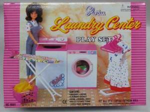 Mueble Para Casa De Muñeca Barbie Cuarto Lavado Lavanderia