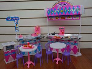Mueble Para Casa De Muñeca Barbie Snack Comida Rapida