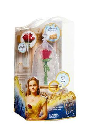 Oferta Rosa Encantada Bella Y Bestia Joyero Musical + Luz *