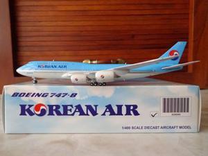 Avion Boeing 747-8i De Korean Air En Escala 1:400 Jc Wings