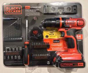 Black Decker Taladro 20v 3/8'' Y Destornillador 44 Piezas