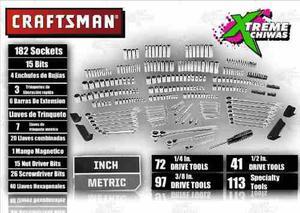 Caja De Herramientas Craftsman 323 Pz Set Xtm P