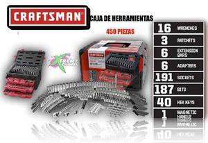 Caja De Herramientas Craftsman Mecanica 450 Set Piezas Xtm C