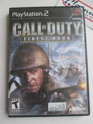 Call Of Duty Finest Hour Playstation 2 Ps2 Cod Accion