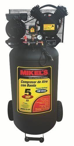 Compresor De Aire 5 Hp 190 Lts Con Banda Mikels