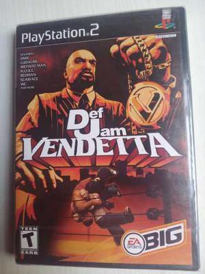 Def Jam Vendetta Ln Playstation 2 Ps2 Nuevo Sellado Fabrica